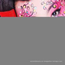 Cara arte ojo sombra Glitter extraíble Flash ojo engomada de