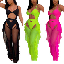 New Fashion Summer Women Sexy Mesh Cover up Swimsuit