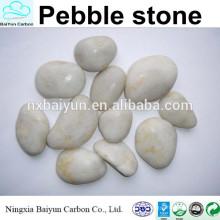Haute pierre de galets blancs polis, jardin de galets pas cher