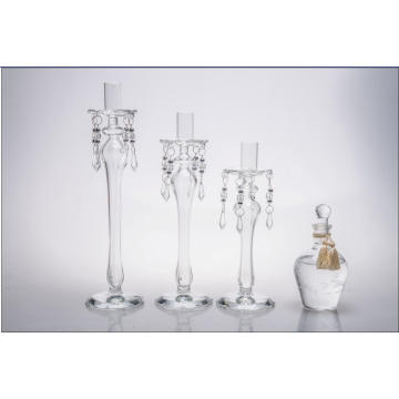 Clear Glass Candle Holder for Wedding Decoration