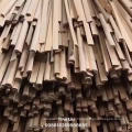 Half round recon teak wood moulding