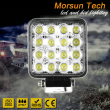 factory price square 16 LED 48w work light rectangle 48W work light truck work lamp 24V