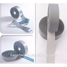 Silver bright PET material 3m reflex tape,heat transfer reflector tape for reflective vest