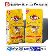Saco de embalagens de plástico de comida de cachorro de alta qualidade