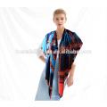 Alta qualidade courful tela de impressão seda cachecol cetim lenço quente inverno 2015