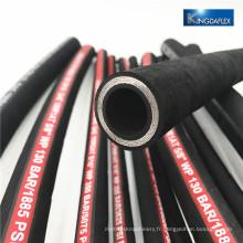 Tuyau hydraulique de tuyau d'acier à haute résistance flexible de quatre tuyaux