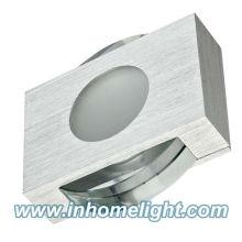 Luz de teto quadrada led material de cristal 1W