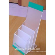 Porte-brochures acrylique givré sur mesure pour la Banque