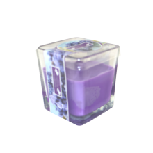 Luxury Flameless Scented Parafin Pillar Glass Candle