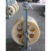 Nylon wheels electric cable pulley