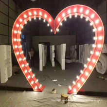 Stainless steel 4ft led love marquee wedding letter lighting with bulbs