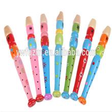 Fourniture usine à bas prix Colorful Toy Flûte traversière en bois
