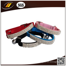 Pet Product Supplier Rhinestone Leather Dog Collar (HJ1201)