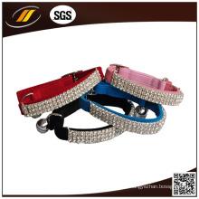 Pet Product Supplier Rhinestone Leather Dog Collar (HJ1201)