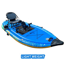 Fishing Kayak with Foot Pedal Inflatable Pvc  Reasonable Factory Price 335*112*10CM Adjustable Drifting