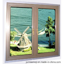 Aluminum Window in Brown Color