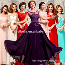Appliques Satin elegant Plus Size evening dresses bridesmaid dress 2016