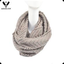Moda Inverno Herringbone Padrão Jacquard Knitted Neck Warmer