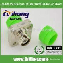 FC / APC Atenuador de tipo fijo óptico tipo Bulkhead de un solo modo 15db