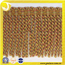 brush golden tassel fringe bullion fringe