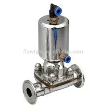 Vanne à membrane sanitaire 316L en acier inoxydable de haute qualité, vanne pneumatique