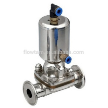 Alta qualidade válvula de diafragma sanitário de aço inoxidável 316L, válvula pneumática
