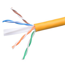 UTP CAT6 LSZH Câble Fluke Testé Soild Nare Copper Yellow