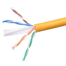 UTP CAT6 LSZH Cable Fluke Tested Soild Bare Copper Yellow