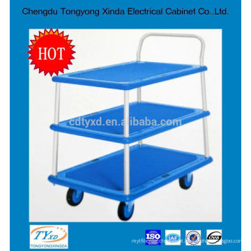 2014 professional OEM custom 300kg platform trolley with three layers and handles