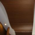 Nuevo estilo WPC curva techo artístico para la decoración del Hotel