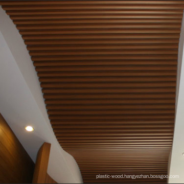 New Style WPC Curve Artistic Ceiling for Hotel Decoration