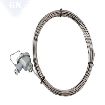 Termopar blindado con cable de compensación