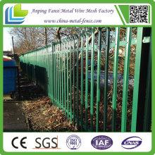 China Lieferant Stahl Palisade Eisen Zaun Designs