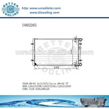 Aluminum Radiator For VOLKSWAGEN Golf/GTI/JETTA 00-02 1J0121253R/1J0121253L/1J0121253N