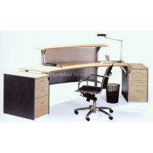 Mesa de recepção barata de escritório tradicional de madeira pequena (LT-E401)