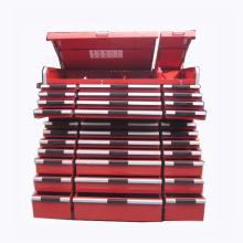 Armario de rodillos con caja de herramientas de metal con juego de herramientas