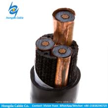 Câbles d'alimentation de câble d'alimentation isolé par moyenne tension de XLPE à un noyau Câbles à trois noyaux BS 6622 / BS 7835 à BS 6622 / BS 7835