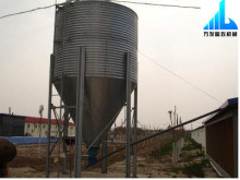 Poultry feed silo for broiler farm