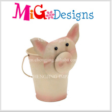Best Selling Hand-Printing Metal Animal Planter