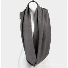 Schöne reine Farbe Schal Mongolei 100% Kaschmir gestrickt Unendlichkeit Schal