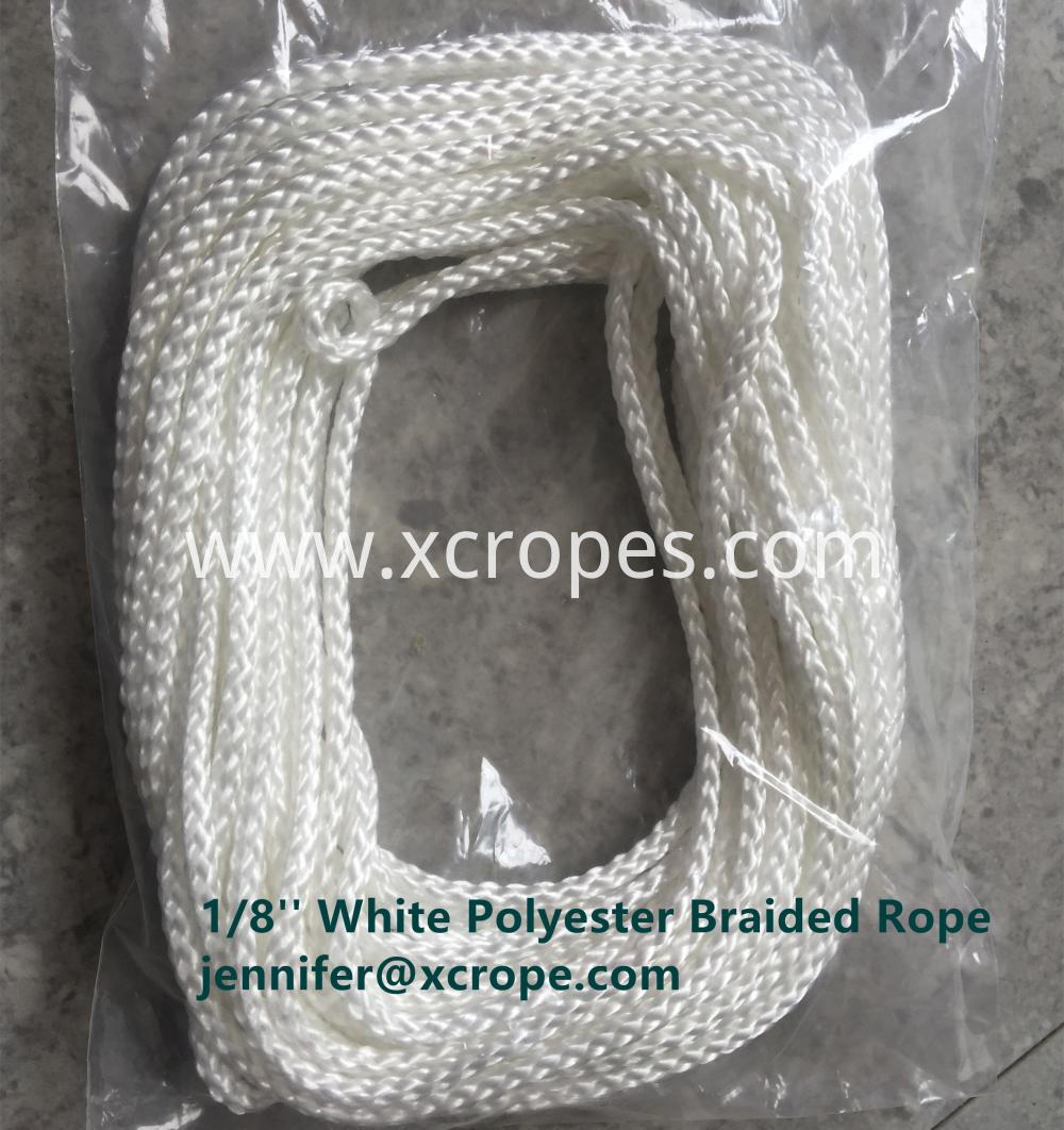 White Polyester Braided Rope