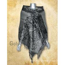 Jaquard design viscose scarf