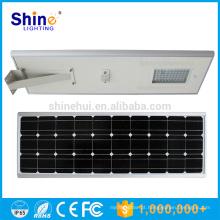 O mais poderoso sensor de movimento 100w solar rua levou luz com backup de bateria