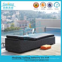 All Weather Rattan Single cama ajustável flutuante ao ar livre