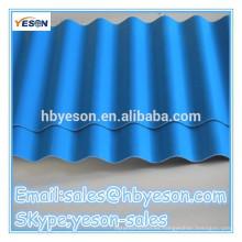 Hoja de acero de metal corrugado de color para panel de techo