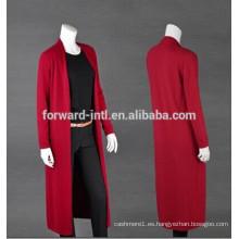 Rebeca de cachemira pura larga estupenda de la moda del invierno de 2014, suéter de la cachemira