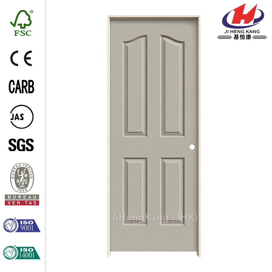 Textured 4-Panel Molded Single Prehung Interior Door