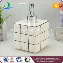 white Rubik's Cube bathroom liquid soap dispenser