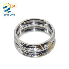 Nouveaux anneaux d'anneau d'acier inoxydable d'anneau de doigt plaqué or de conception faits en Chine