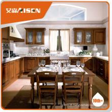 Gabinete de cozinha de design popular, armário de cozinha de madeira maciça